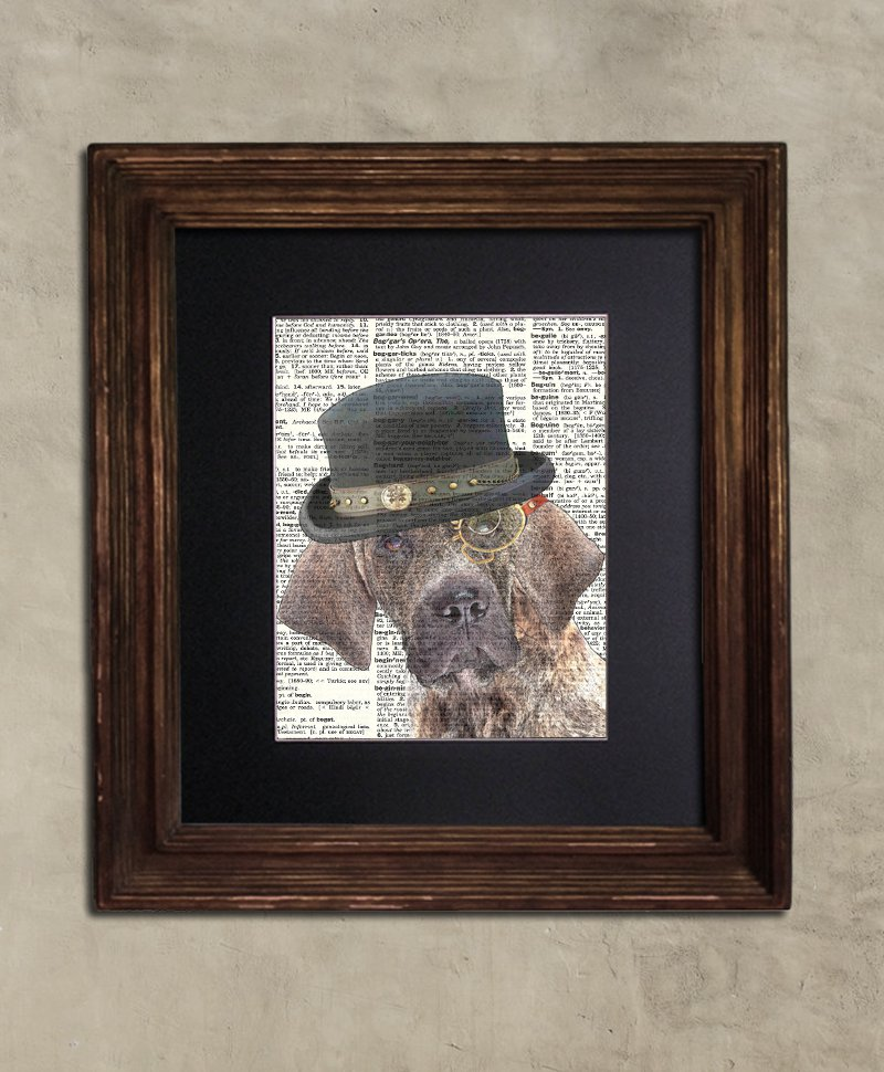 Dictionary Print: Operose Brazilian Mastiff, Steampunk Dog Art Print