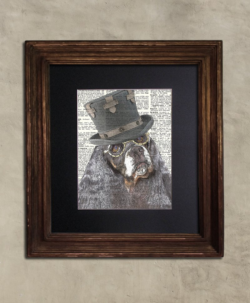 Dictionary Print: Judicious Cocker Spaniel, Steampunk Dog Art Print