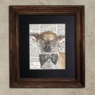 Dictionary Print: Impish Chihuahua, Steampunk Dog, Dog Art Print