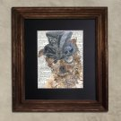 Dictionary Print: Perky Yorkie, Steampunk Dog Print, Art Print