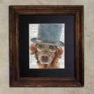 Dictionary Print: Delirious Golden Retriever, Steampunk Dog Art Print