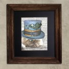 Dictionary Print: Befuddled Persian Cat, Steampunk Cat Artwork