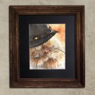 Dictionary Print, Steampunk Cat Print: Ruminative Persian Cat in Top Hat, Steampunk Cat Artwork