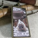 Steampunk Necklace: Brass Rectangle, Steampunk Dog Pendant - Temperate Bassett Hound