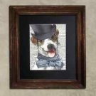 Steampunk Dog - Dictionary Art: Constant Jack Russell Terrier in Top Hat