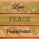 Love, Peace & Happiness - 3 Piece Block Set