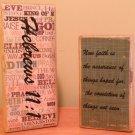 Scripture Blocks - 2 Block Set  Hebrews 11:1