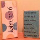 2 Piece Scripture Blocks - John 3:16