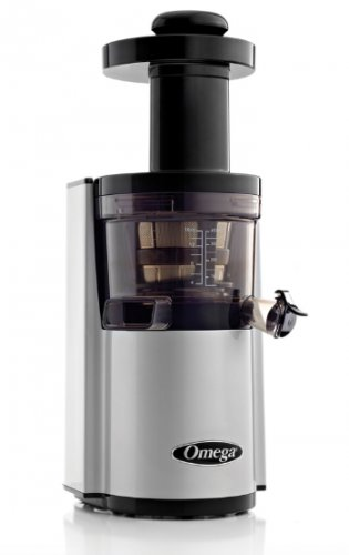 Omega VERT VSJ843RS Juicer Compact Design Round Version Silver New