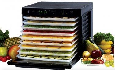 Tribest Sedona Digital Food Dehydrator Black BPA-Free POLY TRAYS SD-P9000 New