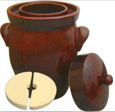 10 L (2.6 Gal) K&K Keramik German Made Gartopf Fermenting Crock Pot Kerazo F2