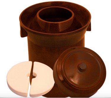 10 L (2.6 Gal) K&K Keramik German Made Gartopf Fermenting Crock Pot Kerazo F1