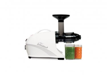 New Tribest Solostar 4 Masticating Cold Press Juicer SS-4200-B Horizontal Slow, (White)