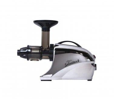New Tribest Solostar 4 Masticating Cold Press Juicer SS-4250-B Horizontal Slow, (Chrome)