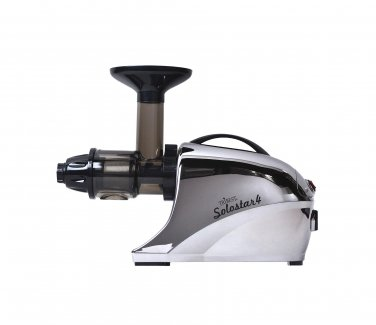 New Tribest Solostar 4 Masticating Cold Press Juicer SS-4250-F Horizontal Slow, (Chrome) 220 Volts
