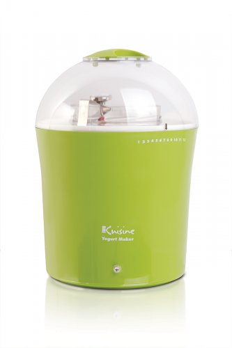 New Euro Cuisine Yogurt & Greek Yogurt Maker with 2 Quarts Glass Jar,Model YM360, Green