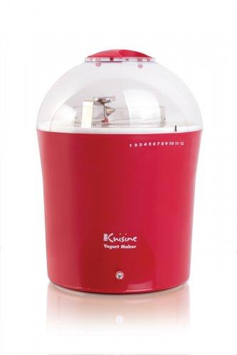 New Euro Cuisine Yogurt & Greek Yogurt Maker with 2 Quarts Glass Jar,Model YM360, Red