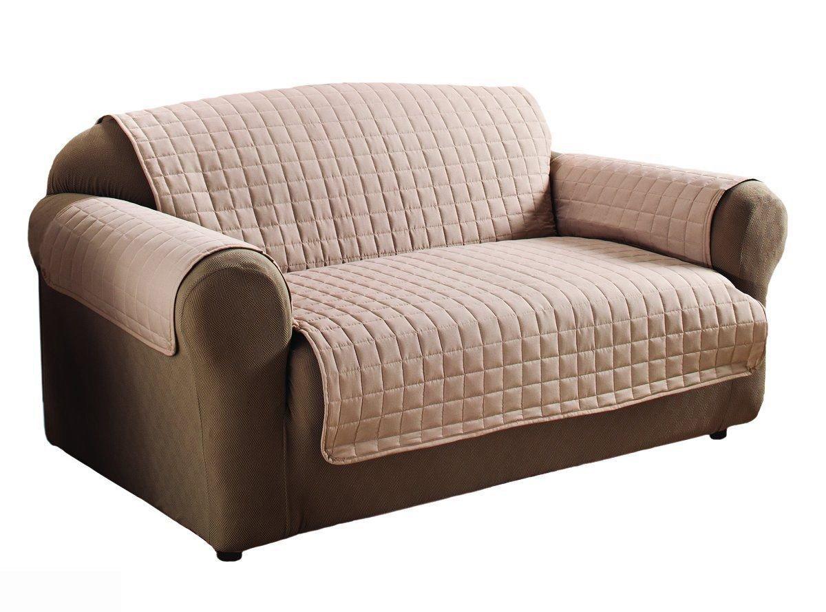 Innovative Textile Microfiber Natural Colour Loveseat Furniture Protector