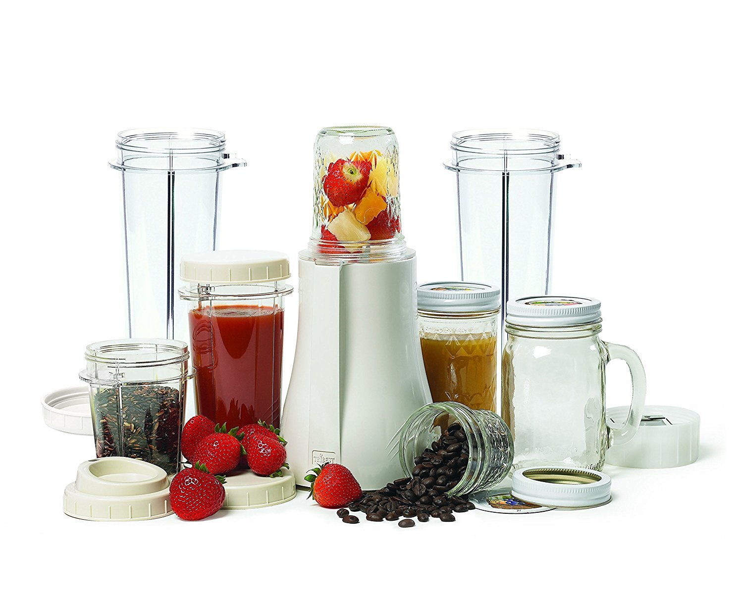 Tribest PB-350XL-A Mason Jar Personal Blender with X-Large Cups, White