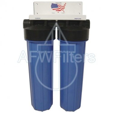 "20"" 2 Stage Big Blue KDF-55 Whole House Complete Water Filter System"