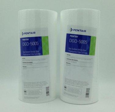 """Pentek DGD-5005 Spun Polypropylene Filter Cartridge, 10"""" x 4-1/2"""" 2- Pack"""