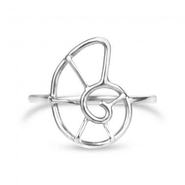Nautilus Shell Ring - Size 8