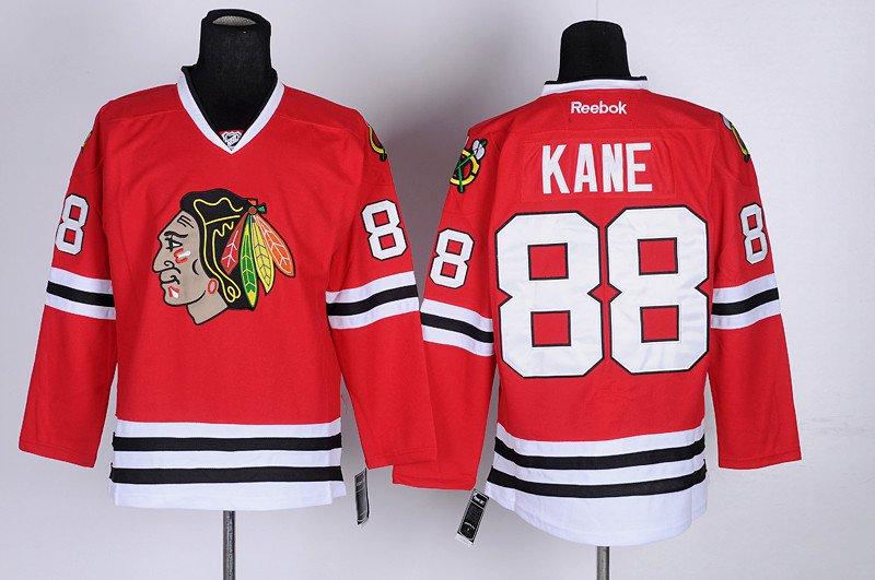 Patrick Kane Red Chicago Blackhawks Hockey Jersey,  2XL, Reebok, Free Ship