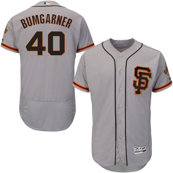Madison Bumgarner, Grey, S.F. Giants, Flex Base Baseball Jersey, XL, Free Ship