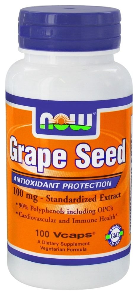 GRAPE SEED ANTI 100mg  100 VCAPS By Now Foods