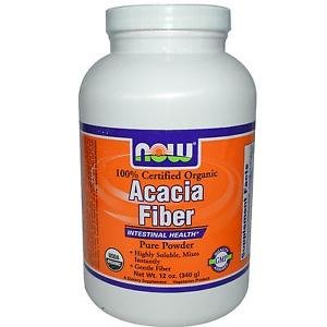 ACACIA FIBER POWDER ORG 12 OZ By Now Foods