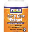 CAT'S CLAW EXTRACT  120 VCAPS By Now Foods