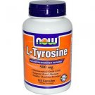 L-TYROSINE 500mg 120 CAPS By Now Foods