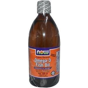 OMEGA-3 FISH OIL LEMON 500ML By Now Foods