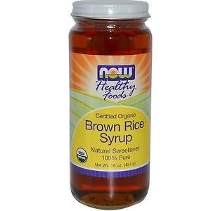 BROWN RICE SYRUP ORGANIC *** 16 OZ By Now Foods