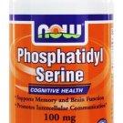 PHOSPHATIDYL SERINE 100mg  60 VCAPS By Now Foods