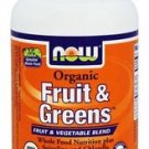 FRUIT & GREENS 1000MG ORG 120 TABS By Now Foods