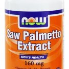 SAW PALMETTO 160mg  120 SGELS By Now Foods