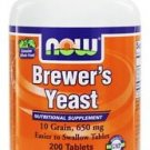 BREWERS YEAST 10 GRAIN  200 TABS By Now Foods