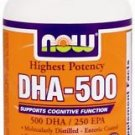 DHA- 500mg  90 SGELS By Now Foods