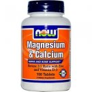 MAG & CALCIUM 2:1 RATIO  100 TABS By Now Foods