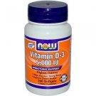 VIT D-3 5000 IU 240 SGELS By Now Foods