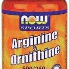 Arginine Ornithine Now Foods 100 Caps