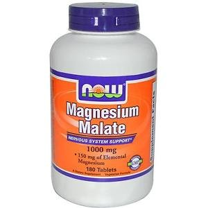 Magnesium Malate 1000Mg  180 Tabs NOW Foods