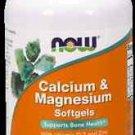 Cal-Mag + D Softgels   120 Sgels NOW Foods