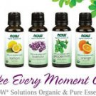 Now Foods ESSENTIAL ORGANIC OILS 1 oz For AROMATHERAPY Solutions - Select Scent