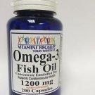 Omega-3 Fish Oil 1200 mg 200 capsules