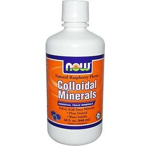 Colloidal Minerals Rasberry  32 Oz NOW Foods