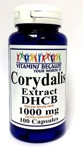 Corydalis Extract DHCB 1000mg 100 Capsules