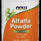 Alfalfa Powder  1 Lb NOW Foods