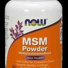 M.S.M Pure Powder  8 Oz NOW Foods